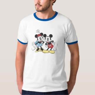 Mickey y Minnie Mouse Playera