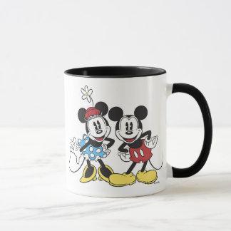 Mickey y Minnie Mouse Taza