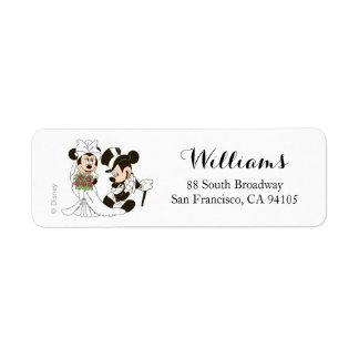 Mickey y Minnie que casan el | que consigue casado Etiqueta De Remite