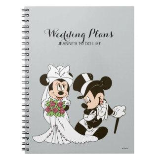 Mickey y Minnie que casan el | que consigue casado Libretas