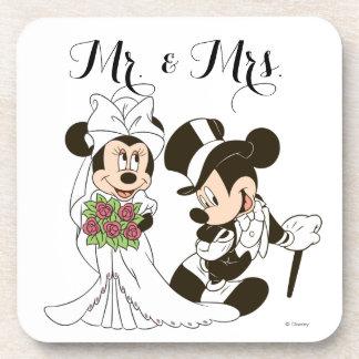 Mickey y Minnie que casan el | que consigue casado Posavasos De Bebidas