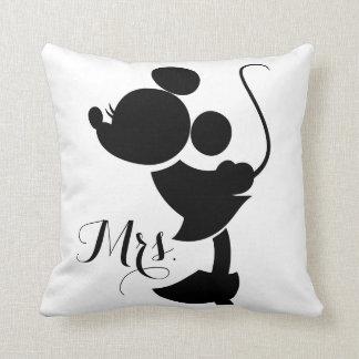 Mickey y Minnie que casan la silueta del | Cojín Decorativo
