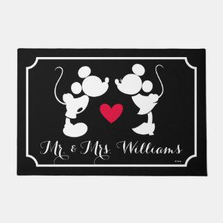 Mickey y Minnie que casan la silueta del | Felpudo