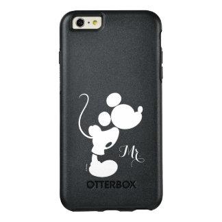 Mickey y Minnie que casan la silueta del   Funda Otterbox Para iPhone 6/6s Plus