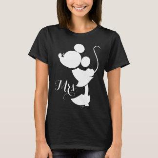 Mickey y Minnie que casan la silueta del | Playera