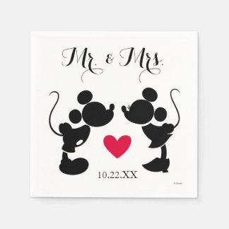 Mickey y Minnie que casan la silueta del | Servilletas De Papel