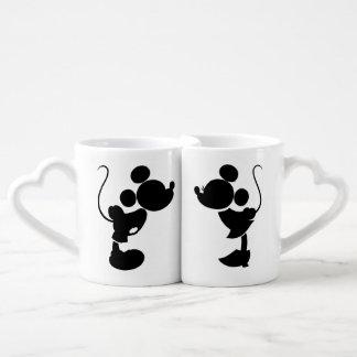 Mickey y Minnie que casan la silueta del | Taza Para Enamorados