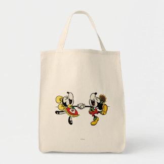 Mickey y Minnie que llevan a cabo las manos Bolsa