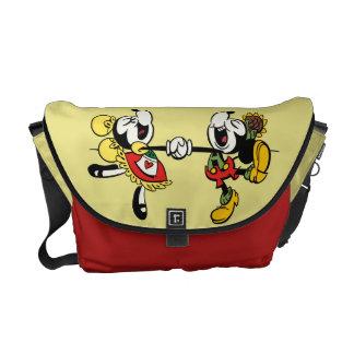 Mickey y Minnie que llevan a cabo las manos Bolsas De Mensajeria