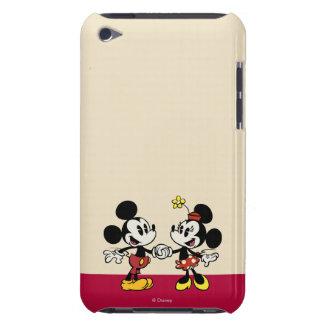 Mickey y Minnie que llevan a cabo las manos Carcasa Para iPod