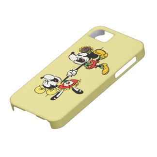 Mickey y Minnie que llevan a cabo las manos iPhone 5 Protector