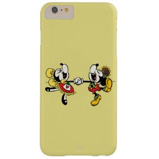 Mickey y Minnie que llevan a cabo las manos Funda De iPhone 6 Plus Barely There
