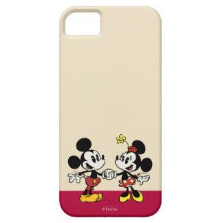 Mickey y Minnie que llevan a cabo las manos iPhone 5 Case-Mate Carcasas