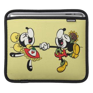 Mickey y Minnie que llevan a cabo las manos Funda Para iPads