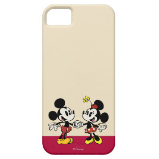 Mickey y Minnie que llevan a cabo las manos iPhone 5 Carcasa