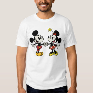 Mickey y Minnie que llevan a cabo las manos Poleras