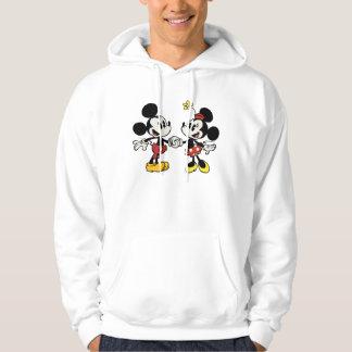 Mickey y Minnie que llevan a cabo las manos Sudadera