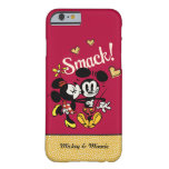 Mickey y Minnie - tortazo Funda De iPhone 6 Barely There