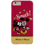 Mickey y Minnie - tortazo Funda De iPhone 6 Plus Barely There