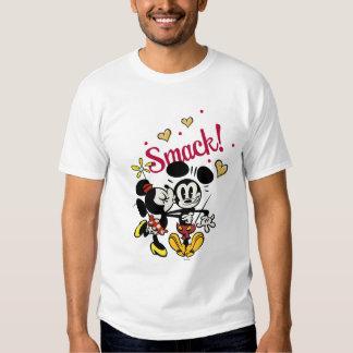 Mickey y Minnie - tortazo Remeras