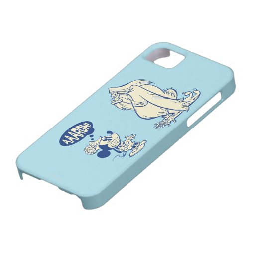 ¡Mickey y Yeti - Aaargh! Funda Para iPhone 5 Barely There