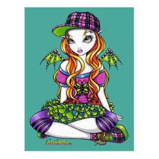 """Micky"" Punky Rainbow Fairy Art Postcard"