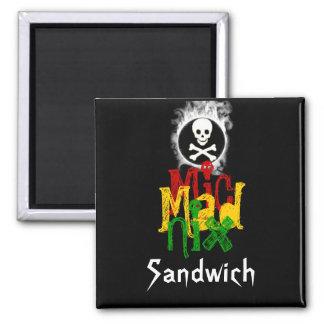MicMadNix Sandwich 2 Inch Square Magnet