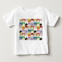Micro Cat Face Pattern Cartoon Colorful T-Shirt