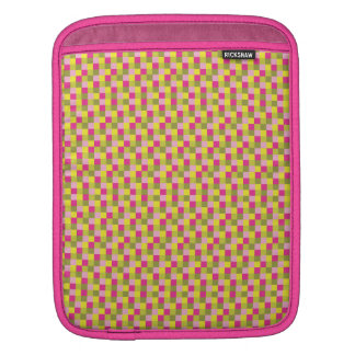 Micro Check PInk Green Sleeve For iPads