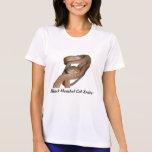 Micro-Fibra de cabeza negra T de las señoras de la Camisetas