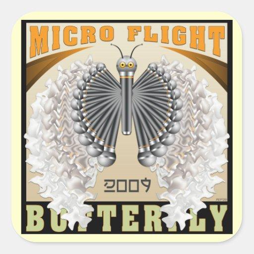 Micro Flight Butterfly Square Sticker