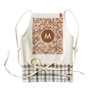 Micro squares pattern zazzle HEART apron