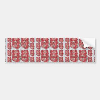 MicroART Wrestlers Wrestling Chinese RED sparkle 7 Bumper Sticker
