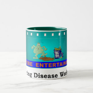 Microbe Entertainment...Promoting Disease Globally Two-Tone Coffee Mug