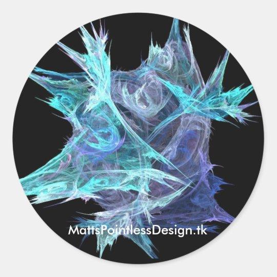 Microbe Fractal Classic Round Sticker