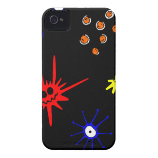 microbes on black iPhone 4 cover