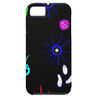 microbes on black iPhone SE/5/5s case
