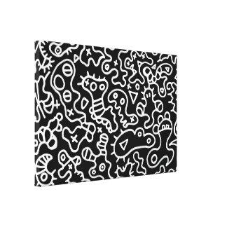 Microbes white art by ilya konyukhov (c) stretched canvas prints
