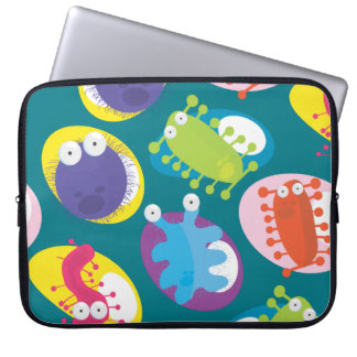 Microbes with custom background color computer sleeve