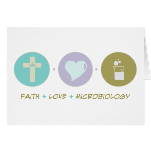 Microbiología del amor de la fe tarjeton
