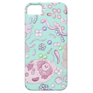 Microbiología en azul funda para iPhone SE/5/5s