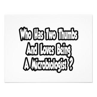 Microbiologist Joke...Two Thumbs Custom Invitation