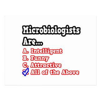 Microbiologist Quiz...Joke Postcard