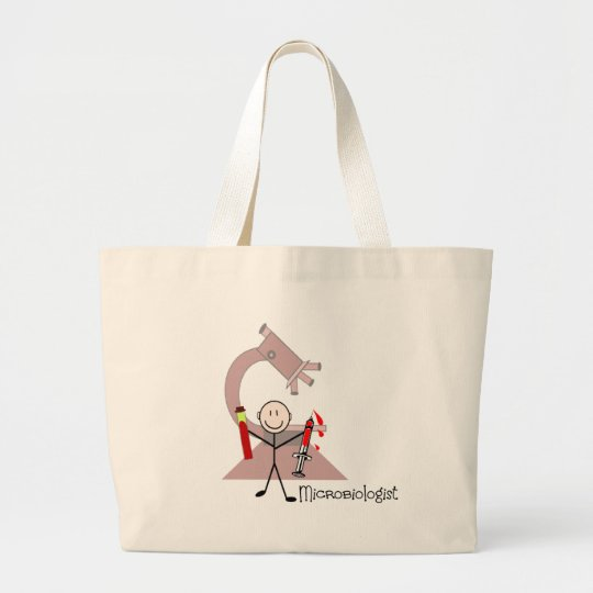 Microbiologist Stick person Large Tote Bag
