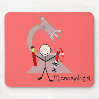 Microbiologist Stick person Mouse Pad