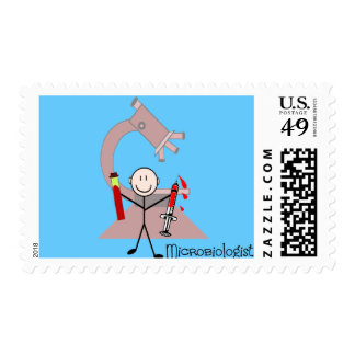 Microbiologist Stick person Postage