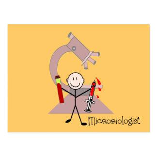 Microbiologist Stick person Postcards
