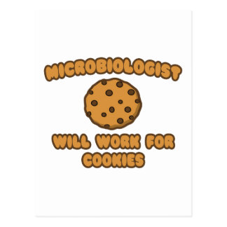 Microbiologist .. Will Work for Cookies Postcard
