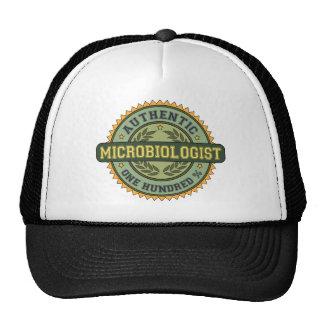 Microbiólogo auténtico gorros bordados