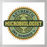 Microbiólogo auténtico impresiones